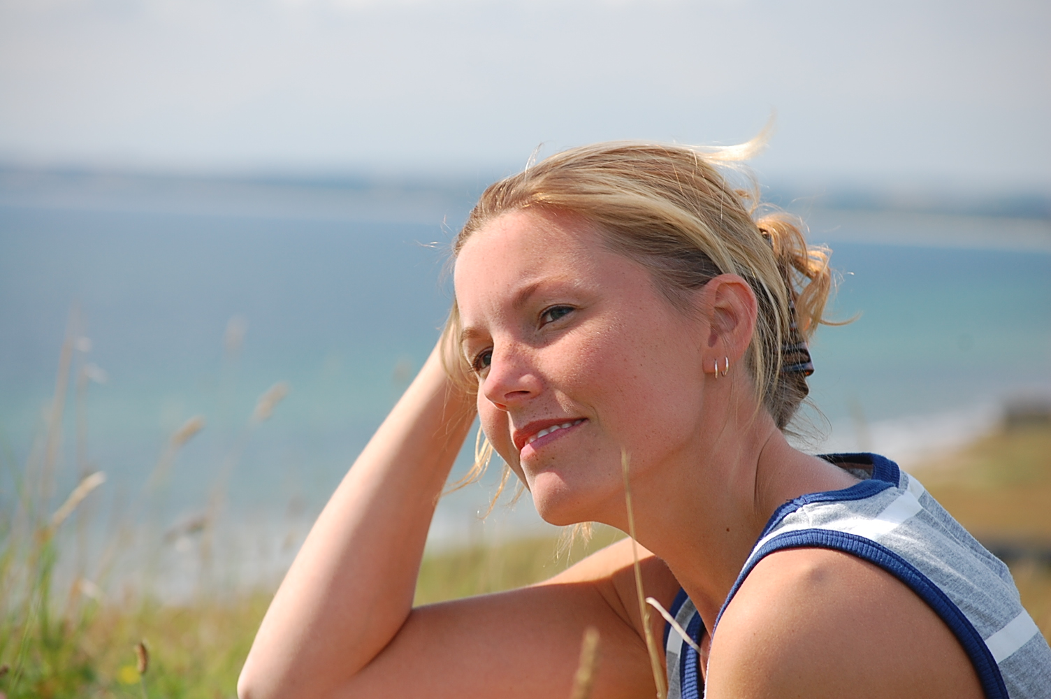 Madeleine on the beach